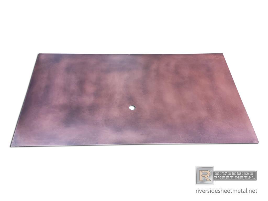 Copper Backsplash With Dark Patina Custom Shipped