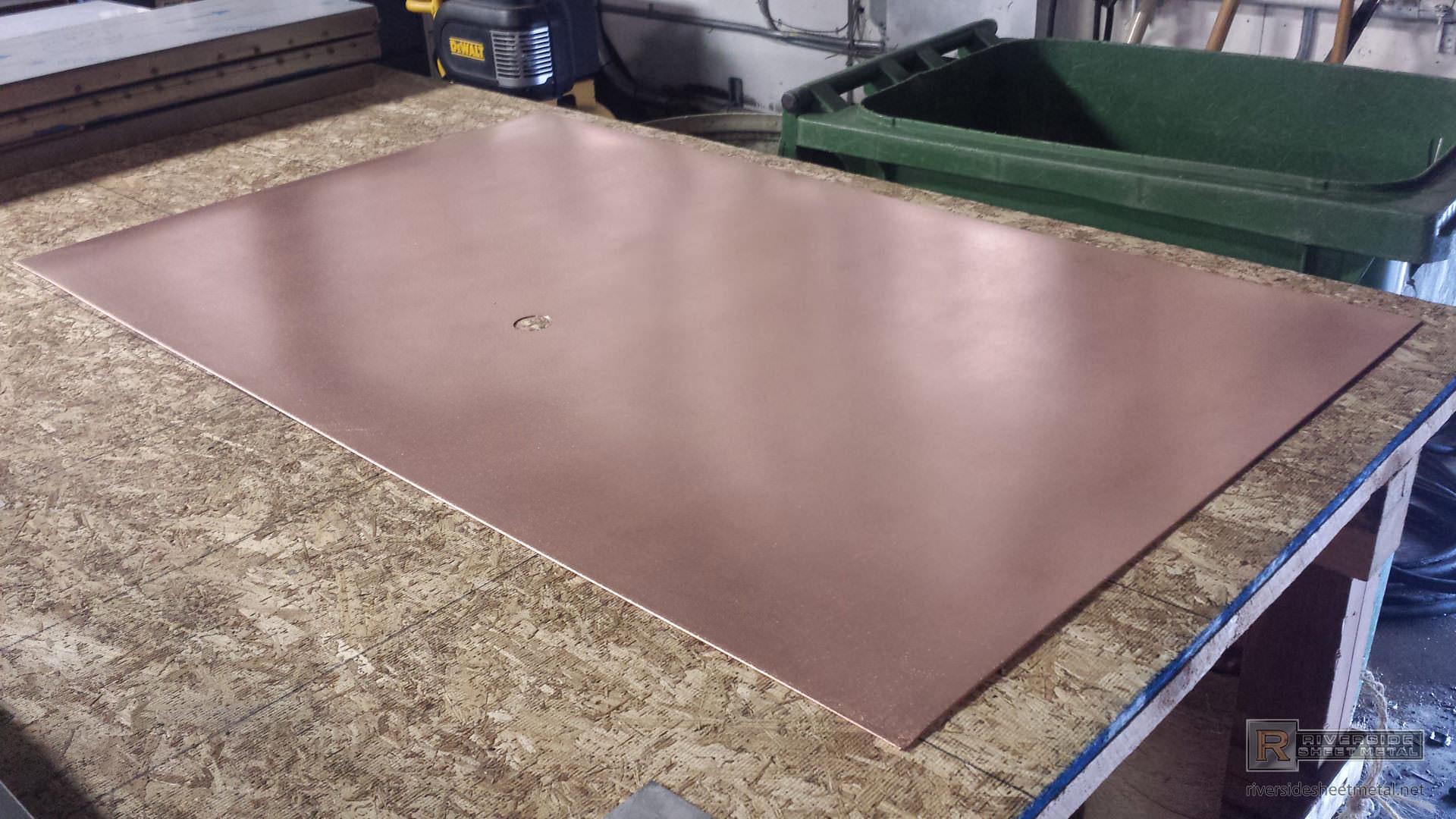 copper back splash with a satin finish previous riverside sheet metal