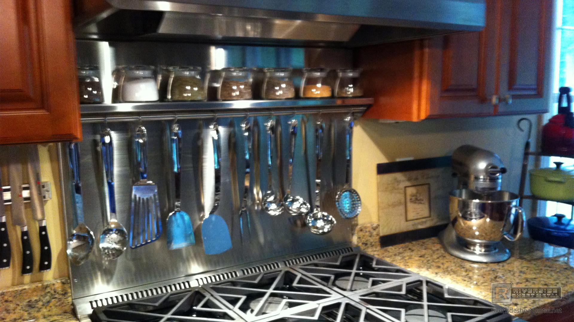 Custom Stainless Steel Spice Rack Riverside Medford Ma