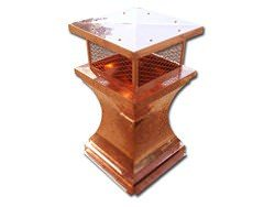 Copper chimney cap with radius detail and expanded copper - #CH003