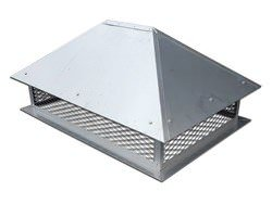 tainless steel chimney cap with simple angled roof - #CH004