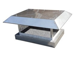 Stainless steel chimney cap with flat roof - #CH007