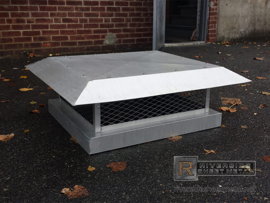 Stainless Steel Chimney Cap With Flat Roof Ch007