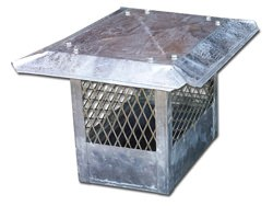 CH011 - Straight chimney cap with standard flat roof