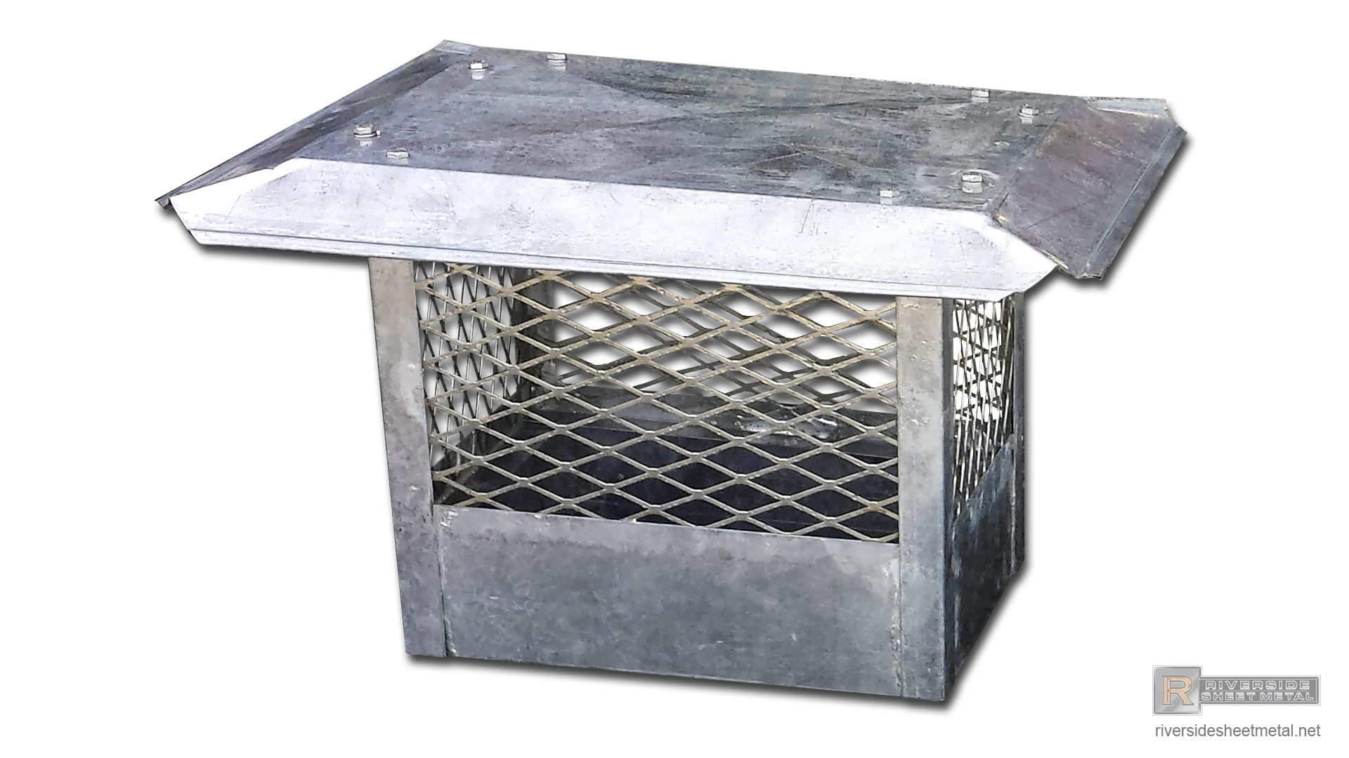 Straight Chimney Cap With Standard Flat Roof Ch011