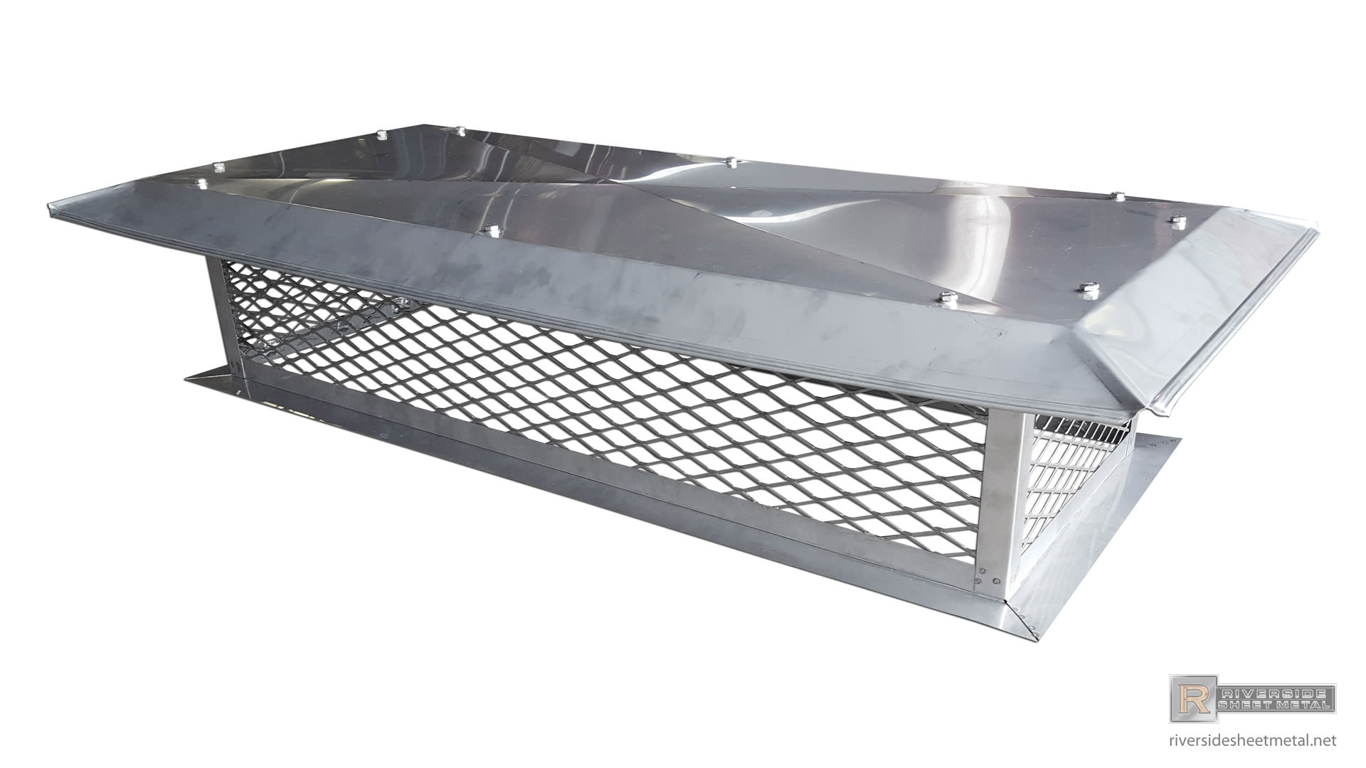 Lcc Chimney Cap With Flat Base And Crimped Roof Ch014