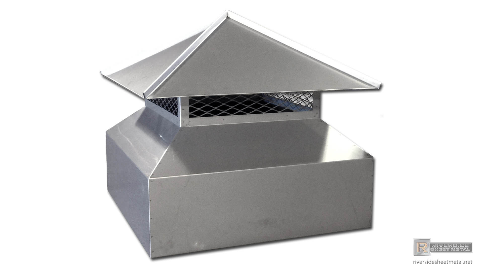 Steel Roof Chimney : Angled copper chimney cap with standing seam panels on a