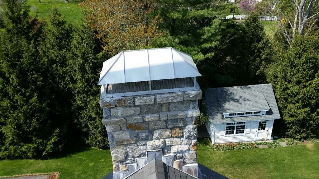 Hip Roof Chimney With Flat Base Custom Made To Size Ch018