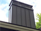 CH019 Stainless steel blackened chimney cap with chase cover - view 4