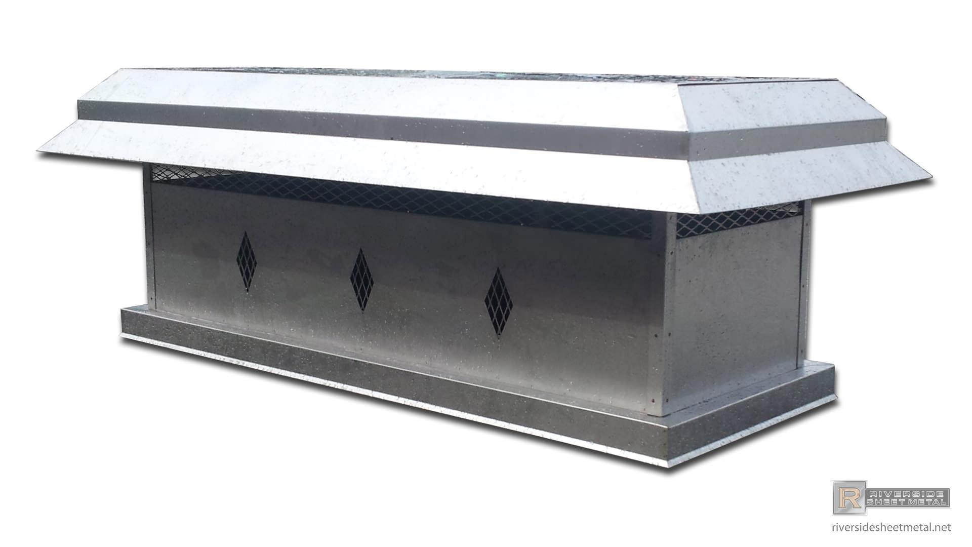 Custom Chimney Caps Copper Stainless Steel Freedom Gray