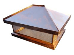CH025 - Chimney top with standing seam roof