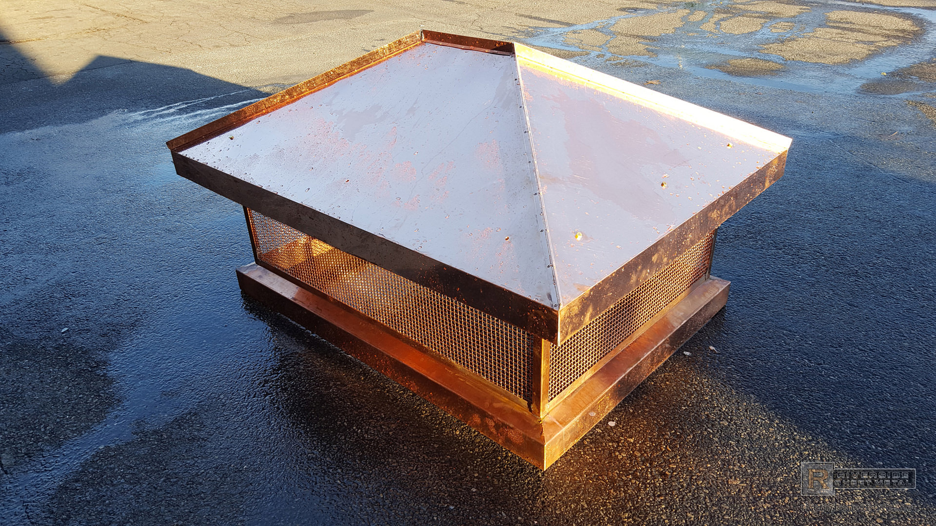 Chimney top with standing seam panels ch025 for Standing seam copper