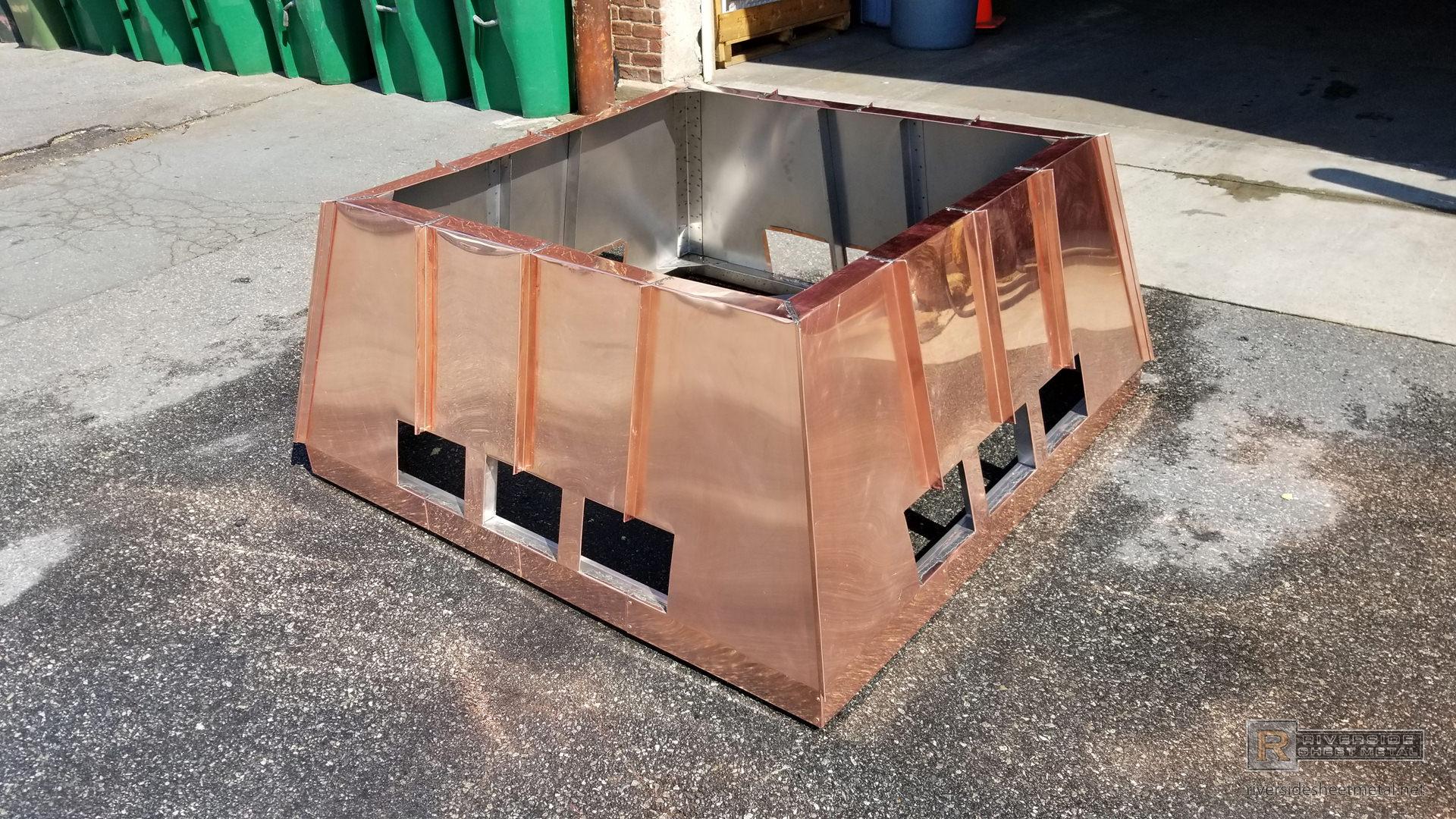 Custom Copper Chimney Shroud With Standing Seam Panels