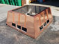 CH027 custom copper chimney shroud with standing seam panels - view 3