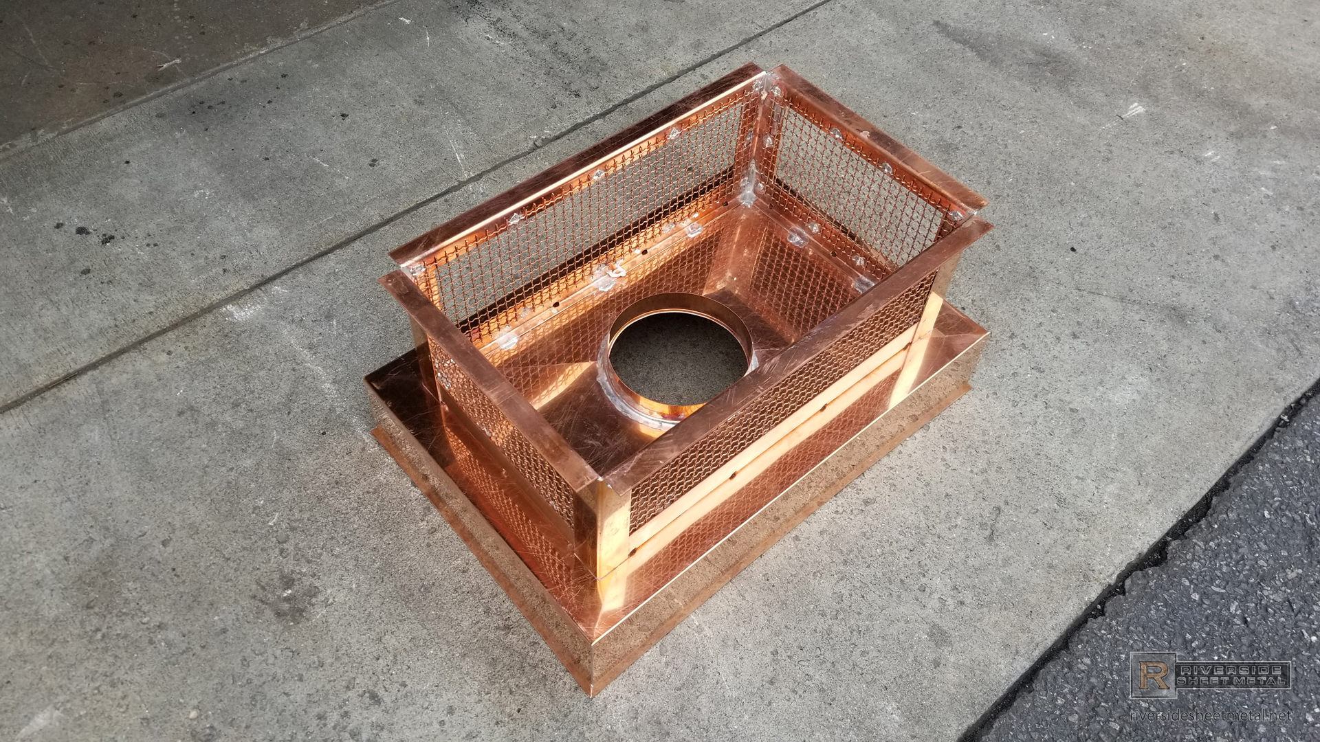 Custom 2 Stage Protection Copper Chimney Cap With Standard