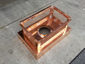 CH028 Custom 2 stage protection copper chimney cap with standard angled roof - view 11