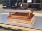 CH028 Custom 2 stage protection copper chimney cap with standard angled roof - view 2