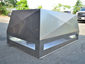 CH029 Chimney shroud with vertical x-bend walls and double stage protection - view 2