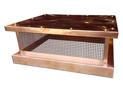 CH030 - Simple copper chimney cap with box style roof