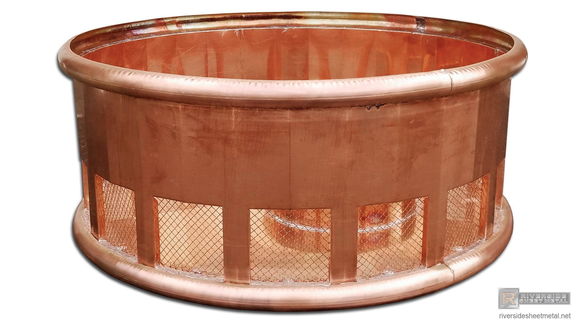 Round Copper Chimney Shroud And Chase Cover Ch031