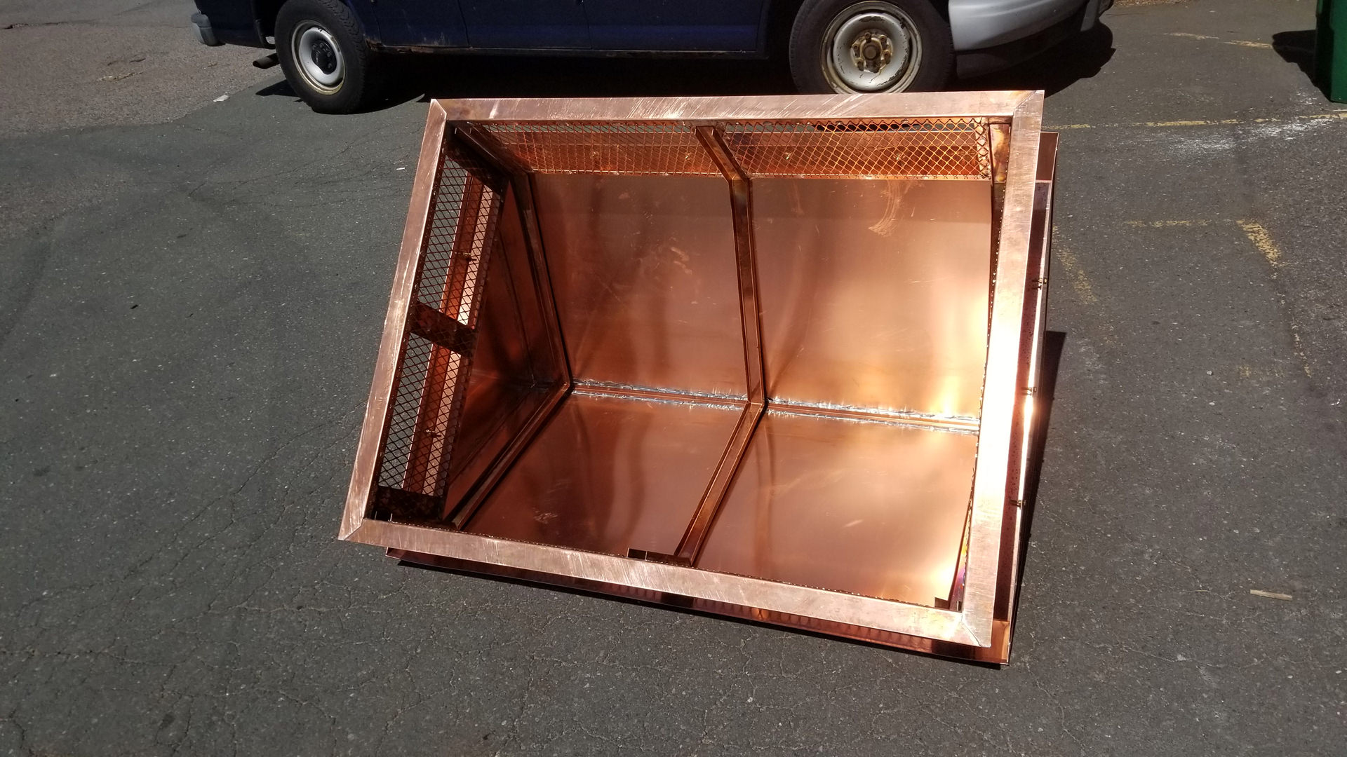 Copper Chimney Cap With Gable Roof Ch033 Custom
