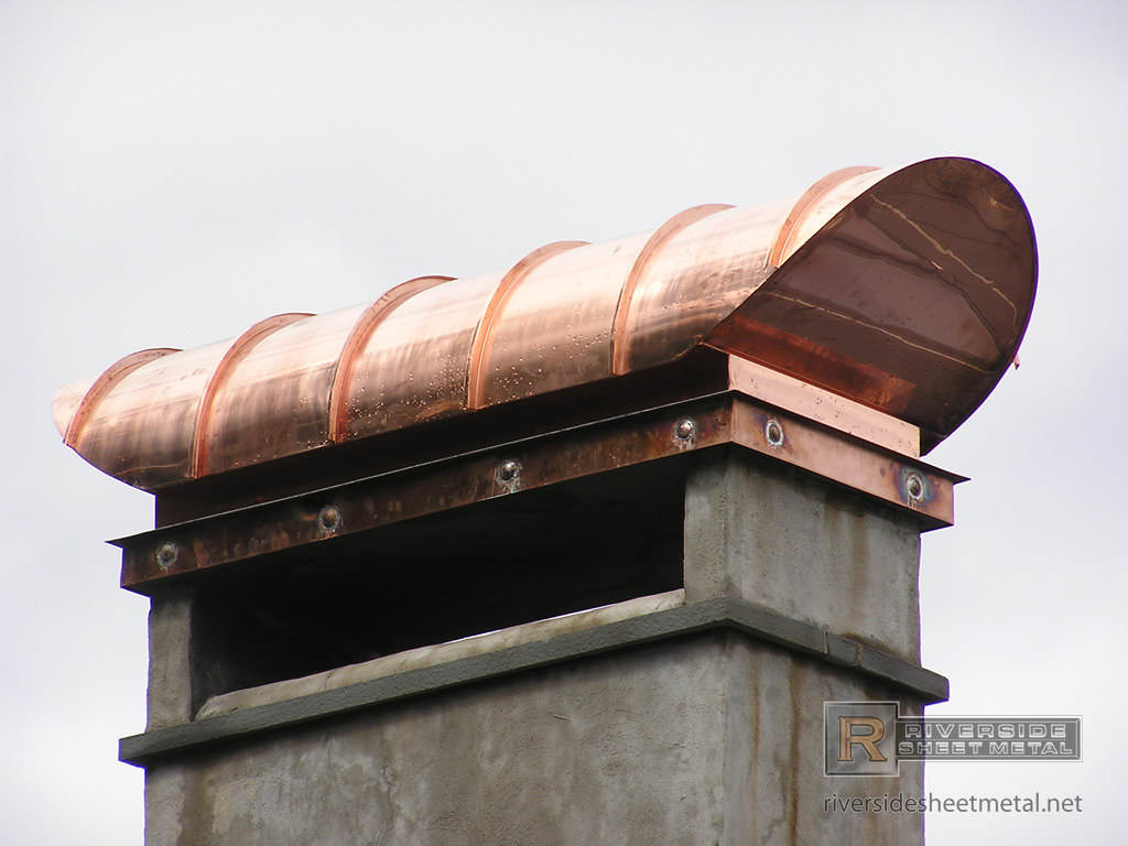 Copper Chimney Cap With Radius Copper Roof Ch001
