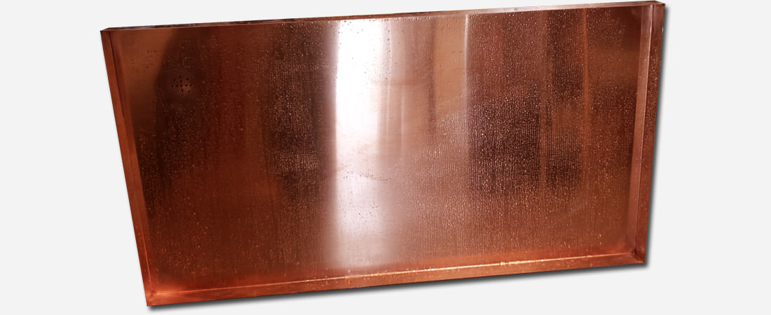 48oz copper shower pan floor