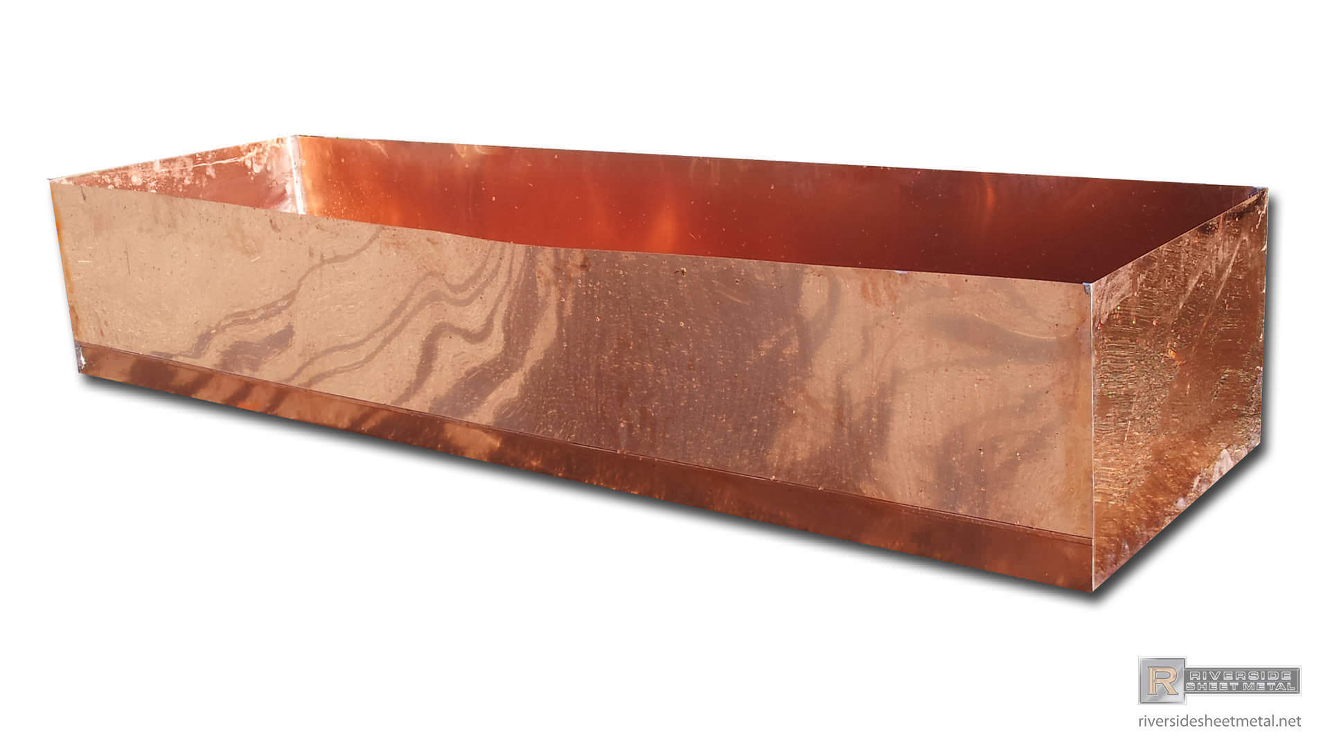 copper pans and shower pans custom fabricated