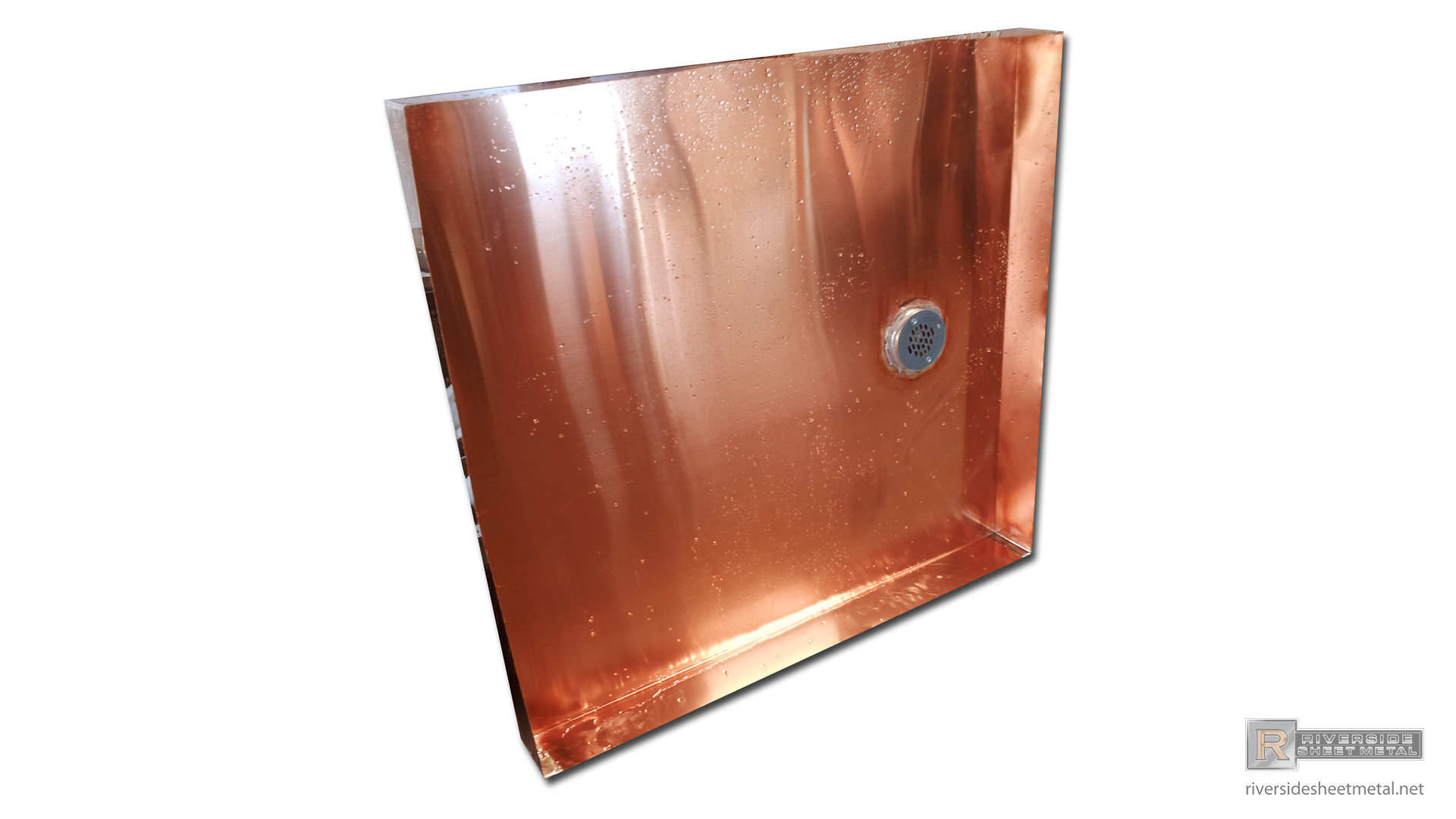 copper pan with drain