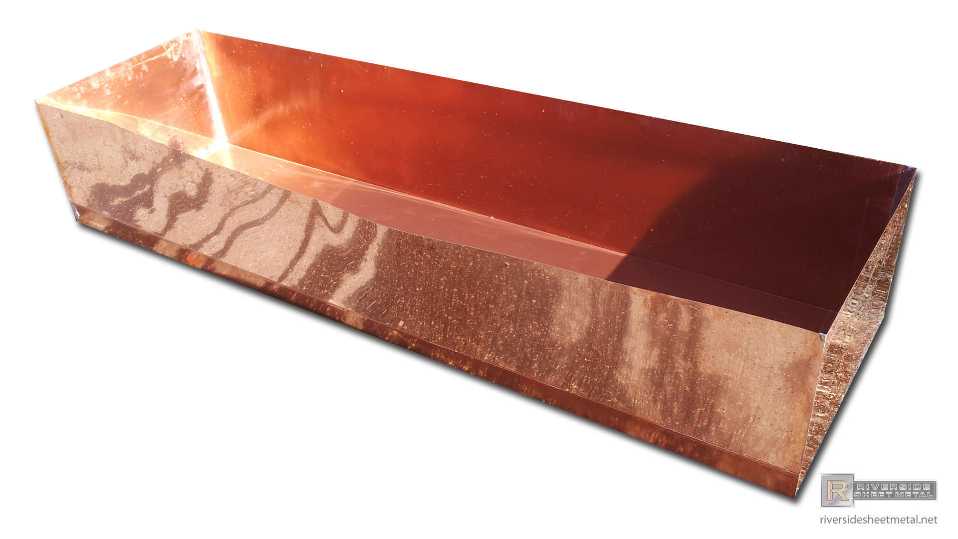Copper Pans And Shower Pans Custom Fabricated Riverside