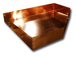 Neo angle copper pan without drain