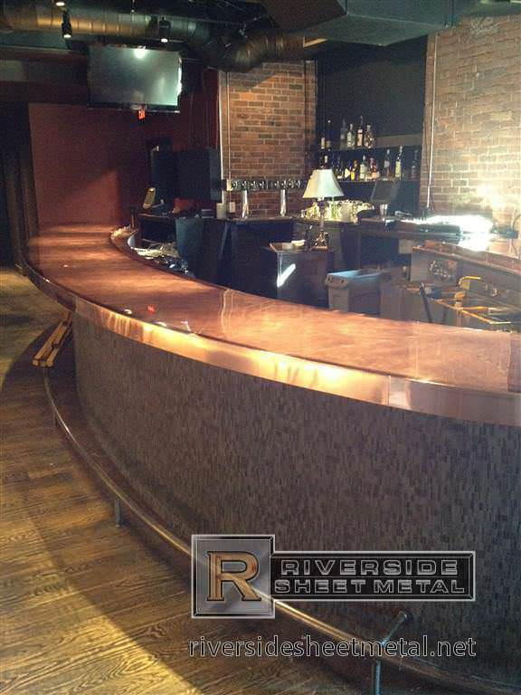 Copper Bar Copper Counter Tops Riverside Sheet Metal