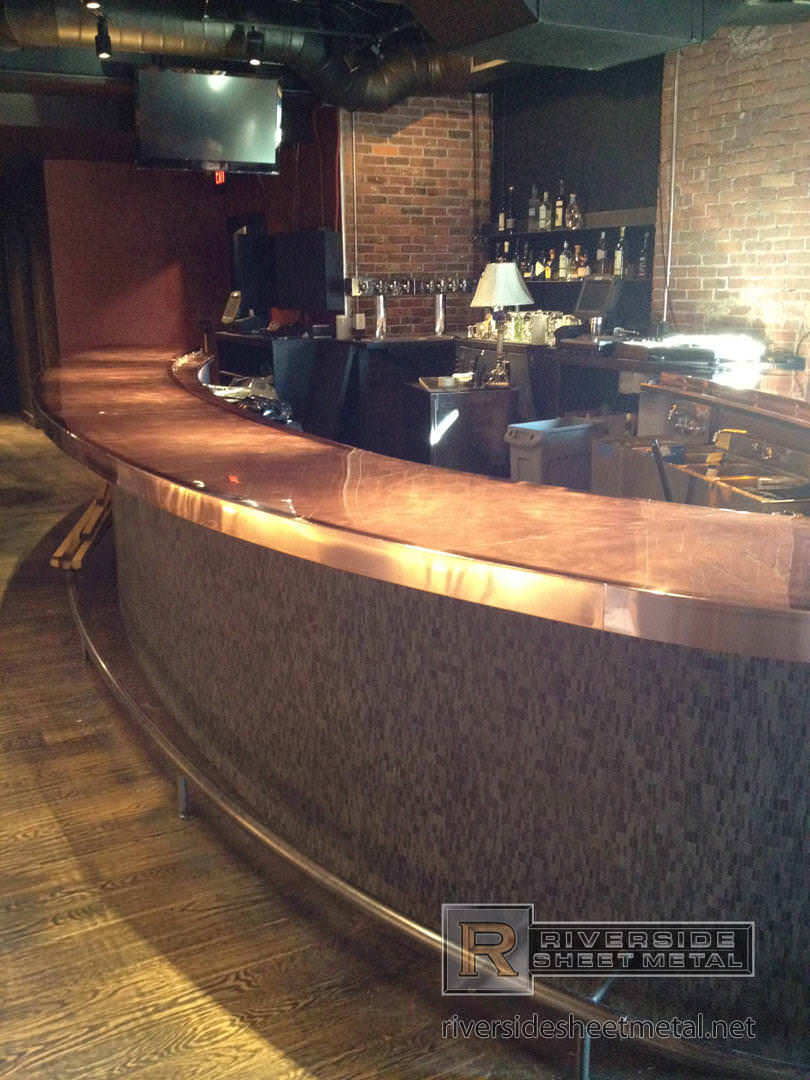 ... Copper Sheet Metal Countertops By Brick And Mortar S Copper Counter Top  Cambridge Ma ...