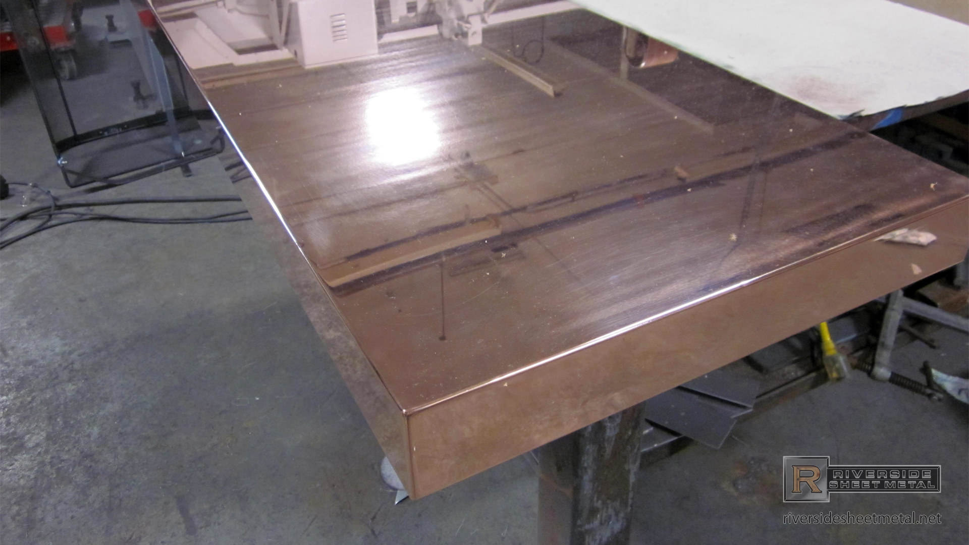 ... Copper Countertop In Fabrication