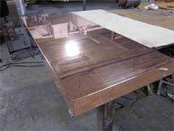Copper countertop in fabrication