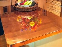 Custom copper polished counter top