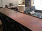 Copper island with rivets and dark patina finish - installation photo - view 1