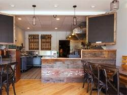 Stained copper counter tops