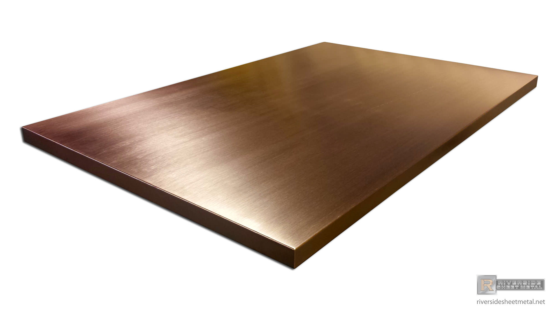 Copper Table Top With A Brushed Finish Custom Made To Order