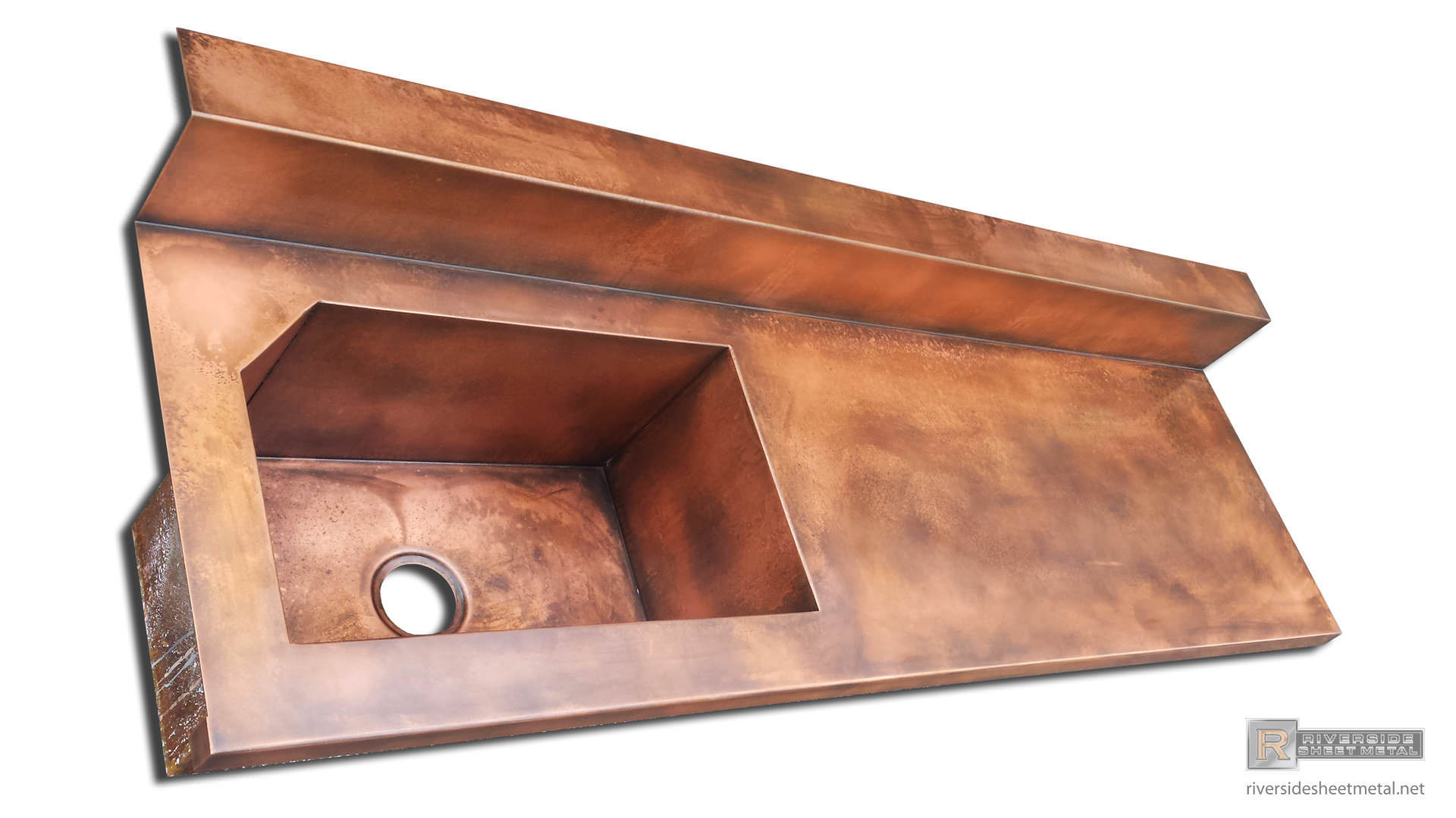 Copper counter tops copper top with sink copper top with integral sink
