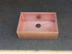 Custom copper farmhouse apron sink
