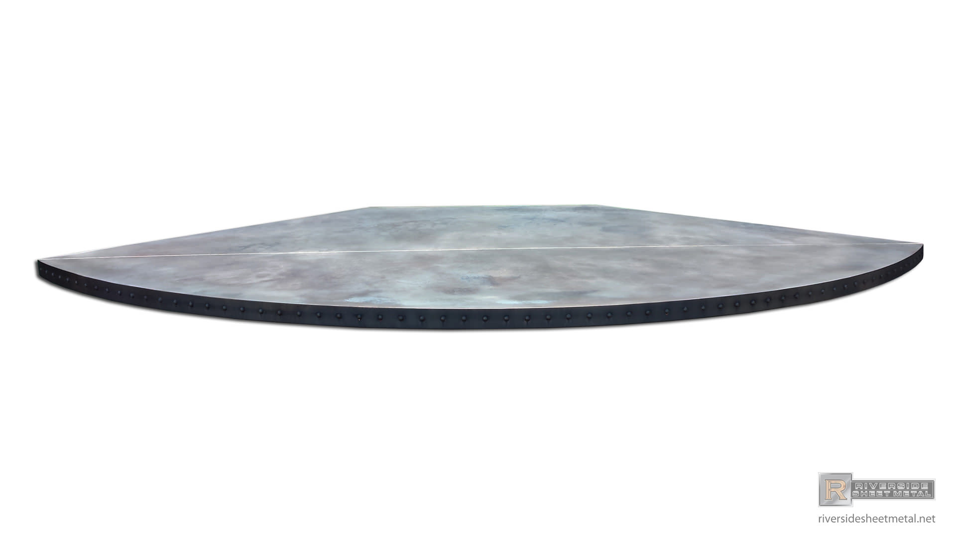 Dark Copper Table Top With Solid Round Head Rivets Shipped