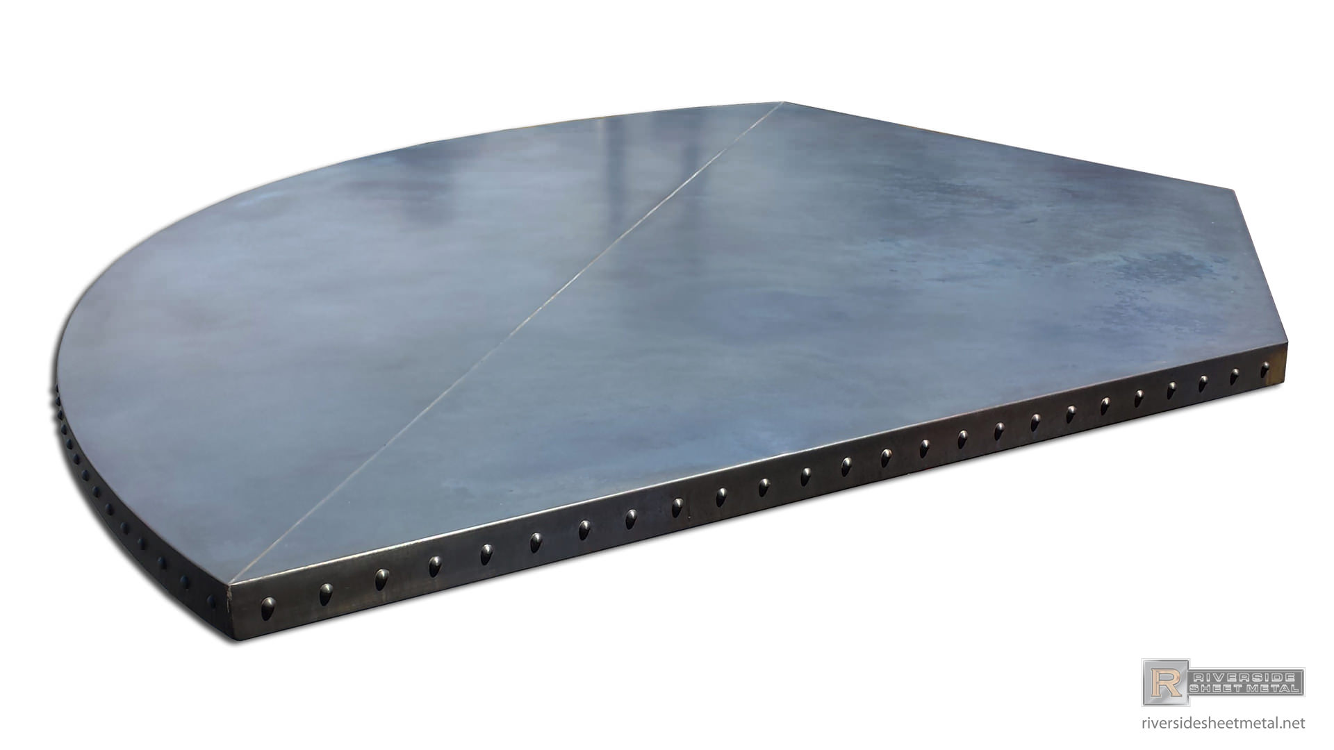 ... Dark Copper Table Top With Solid Round Head Rivets   View 5 ...