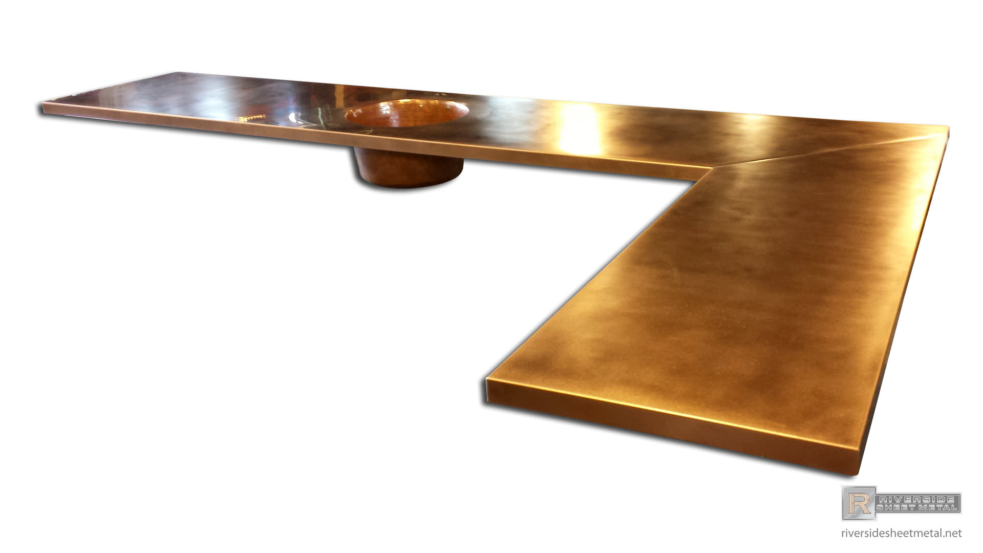 Copper Counter Tops / Table Tops - Kitchen, Island, Bars - Boston - MA