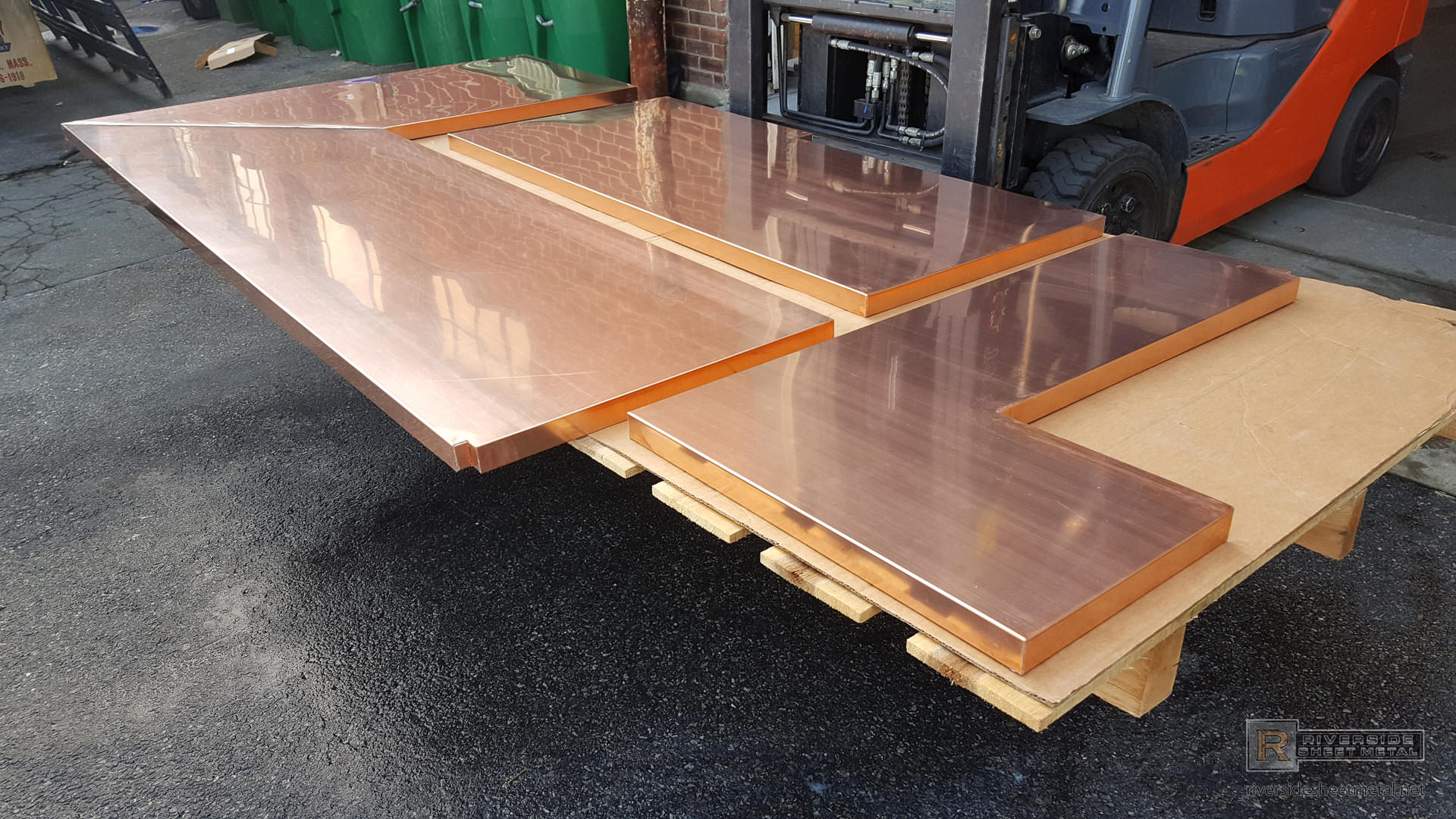 Natural Finish Copper Top With Soldered Seams
