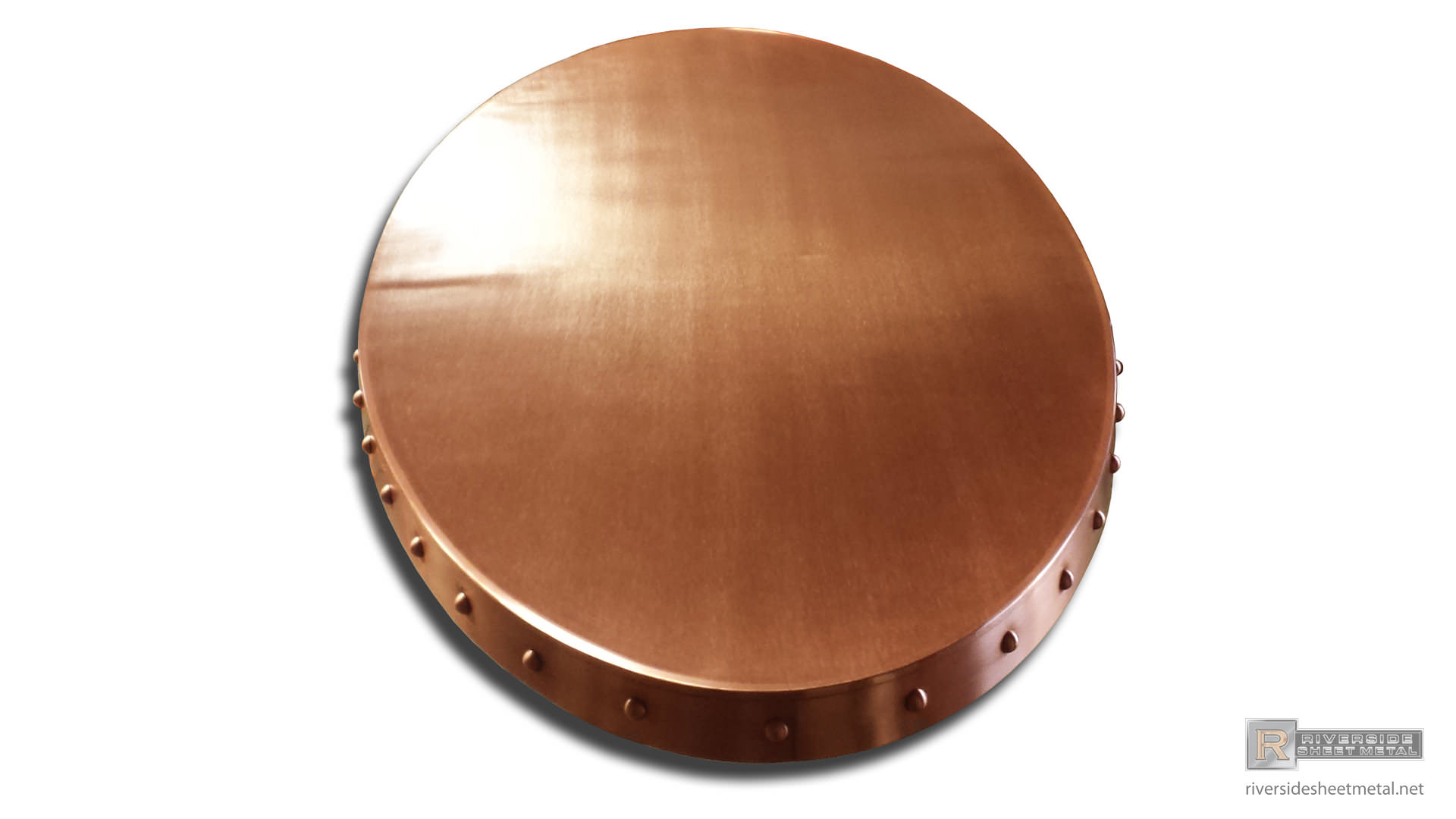 Copper Bar Top Decorated With Rivets Custom Made Shipped