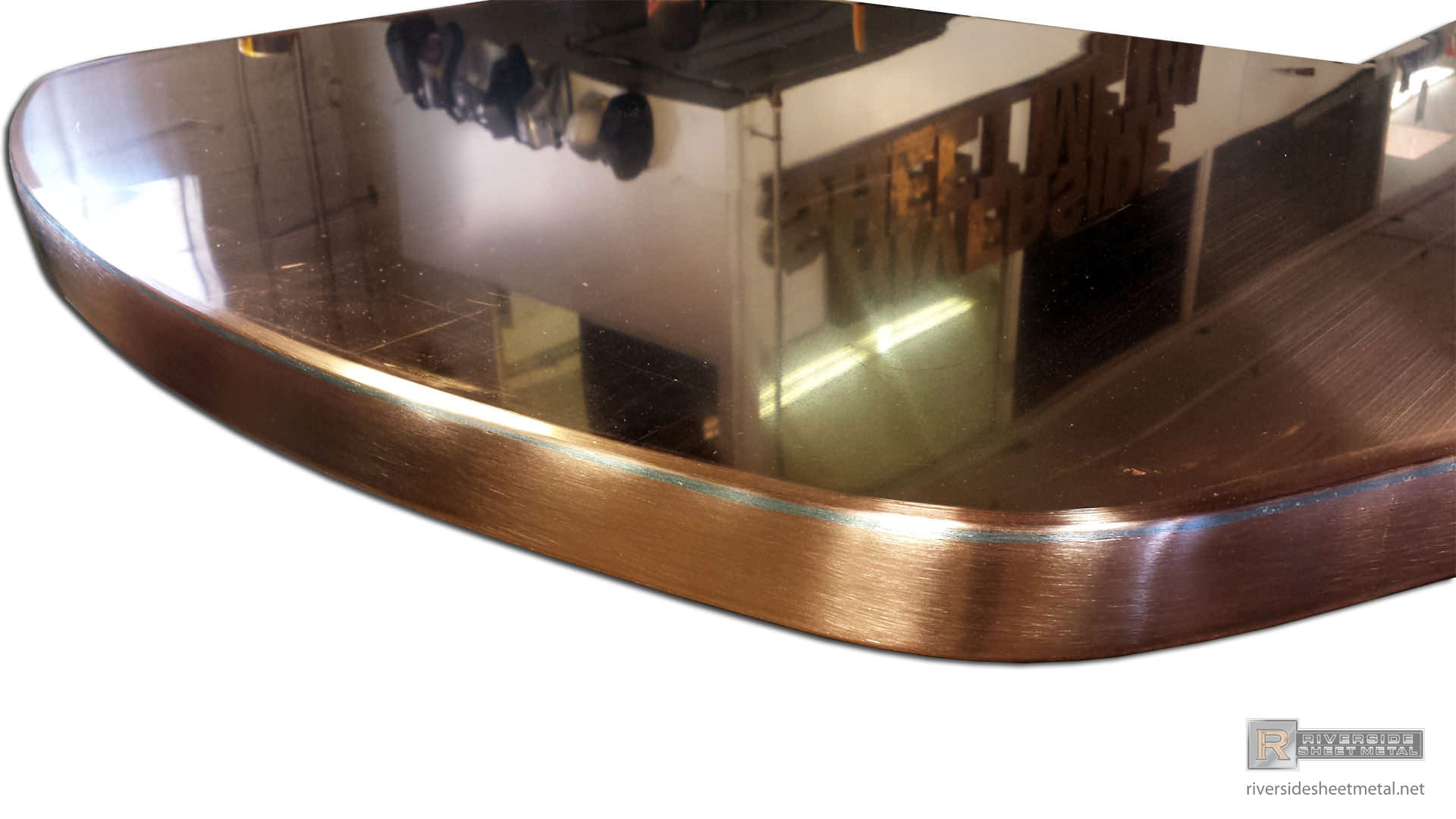 Oval Copper Island Top With Cooktop Hole Massachusetts Usa