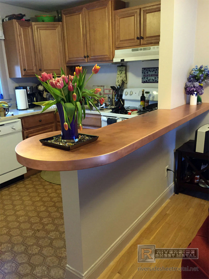 Copper counter tops are commonly fabricated with these materials and