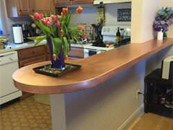 Peninsula satin finsh copper counter top project