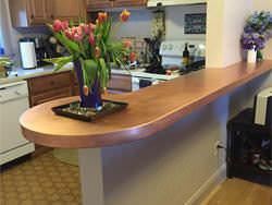 Peninsula satin finsh copper counter top project
